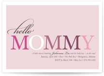 Hello Mommy Baby Shower Invitations