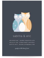Nestled Owls Baby Shower Invitations