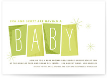 Retro Baby Baby Shower Invitations