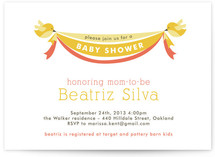 Baby Bird Banner Baby Shower Invitations