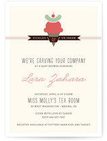 Craving Your Company Baby Shower Invitations