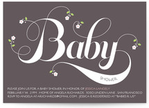 Organic Baby Baby Shower Invitations