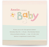 Quilting Bee Baby Shower Invitations
