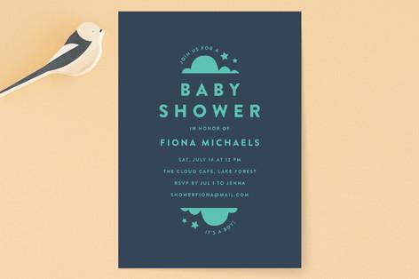 minimalist baby Baby Shower Invitations