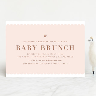 Brunch for Baby Baby Shower Invitations
