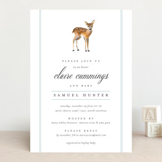 Fawn Fields Baby Shower Invitations