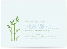 Bamboo Baby Shower Invitations
