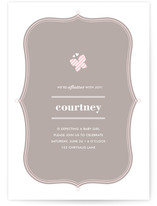 All Aflutter Baby Shower Invitations