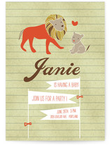 Linus the Lion Cub Baby Shower Invitations