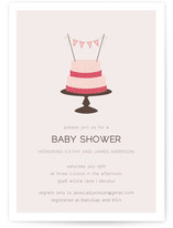 Baby Cake Baby Shower Invitations