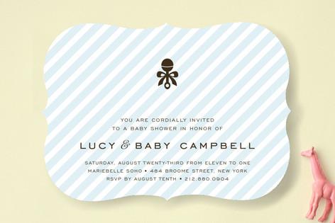 Petite Rattle Baby Shower Invitations