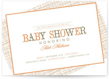 Cross Hatching Baby Shower Invitations
