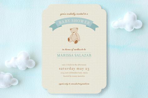 Teddy Nostalgia Baby Shower Invitations