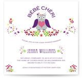 Petit Hibou Baby Shower Invitations