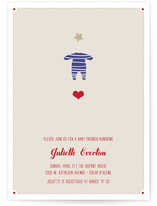 Le Petit Pyjama Etoile Baby Shower Invitations