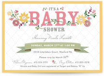 Among the Wildflowers Baby Shower Invitations