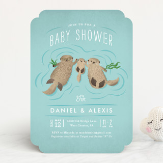 Little Otters Baby Shower Invitations