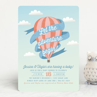 Balloon Adventure Baby Shower Invitations