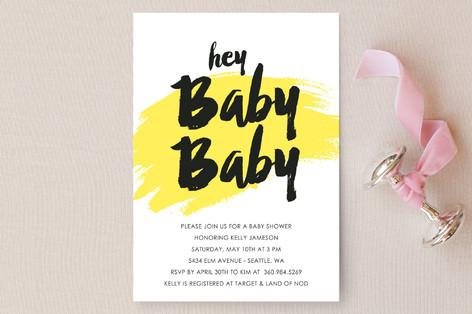 Hey Baby Baby Baby Shower Invitations