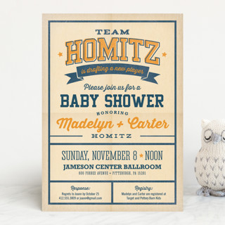 New Player Baby Shower Invitations