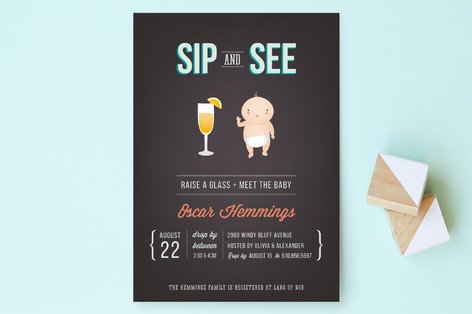Cheers to Baby Baby Shower Invitations