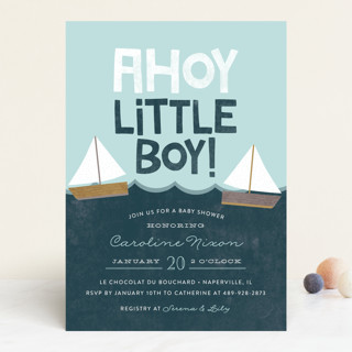Ahoy Little Boy Baby Shower Invitations