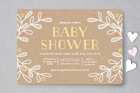 Baby Bloom Baby Shower Invitations