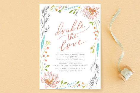 Lotus Baby Shower Invitations