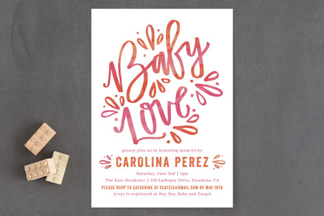 Whimsical Love Baby Shower Invitations