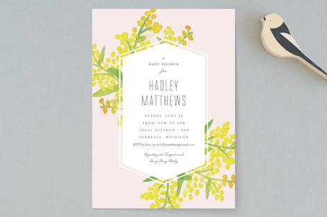 Goldenrod Baby Shower Invitations