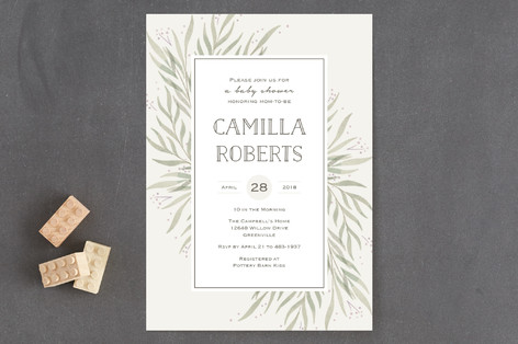 Wispy Willow Baby Shower Invitations