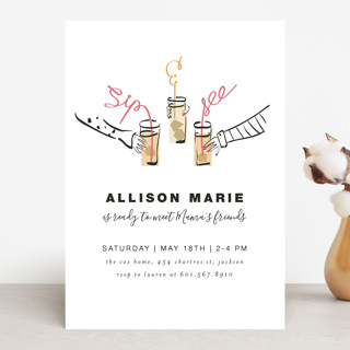 SIP & SEE, BABY! Baby Shower Invitations