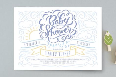 Raining Love Baby Shower Invitations