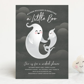 Little Boo Baby Shower Invitations