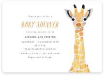 Baby Animal Giraffe Baby Shower Invitations