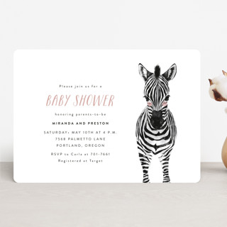 Baby Animal Zebra Baby Shower Invitations