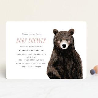 Baby Animal Bear Baby Shower Invitations