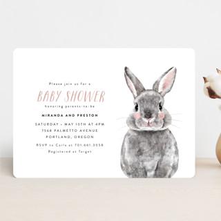 Baby Animal Rabbit Baby Shower Invitations
