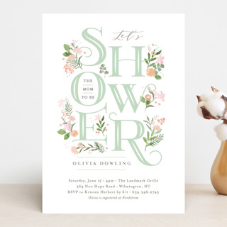 Cascading Shower Baby Shower Invitations