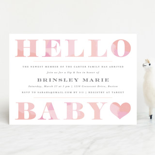 Hello Sweet baby Baby Shower Invitations