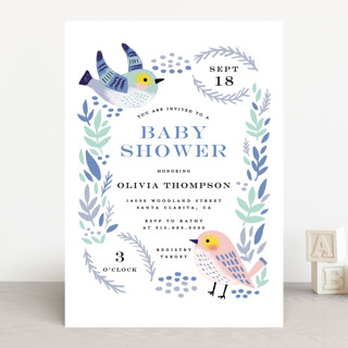 Bird Couple Baby Shower Invitations