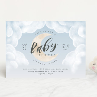 Moon And Back Baby Shower Invitations