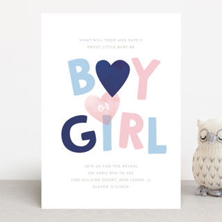 Baby Blue or Pink Baby Shower Invitations