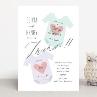 Twinning Baby Shower Invitations