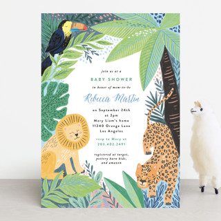Jungle Animal Sketchbook Baby Shower Invitations