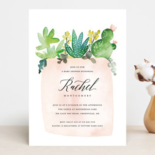New in the Pot Baby Shower Invitations