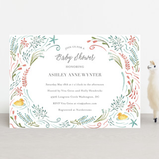Make Way Ducklings Baby Shower Invitations