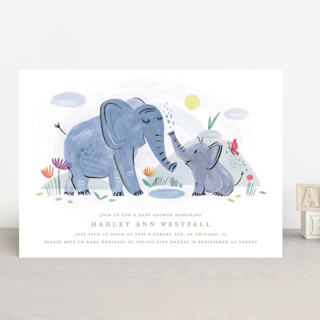 Playful Elephants Baby Shower Invitations
