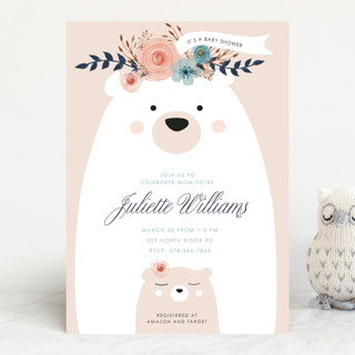 Mama Bear, Baby Bear Baby Shower Invitations
