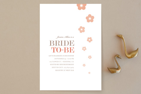 Blossom Shower Bridal Shower Invitations